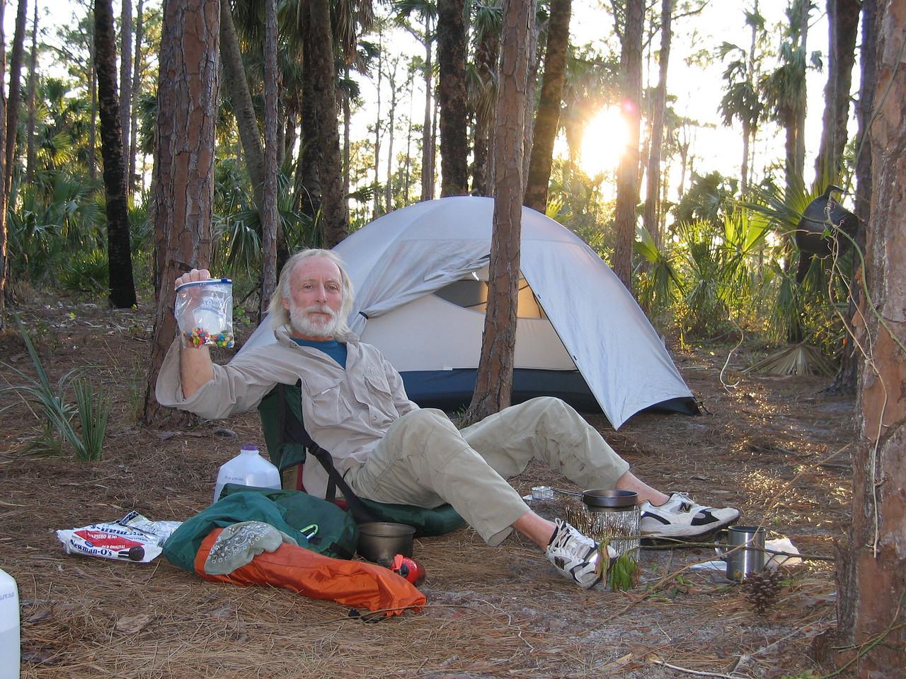 Yummy trailmix<br /> photo credit: Raphael Clemente / Florida Trail Association