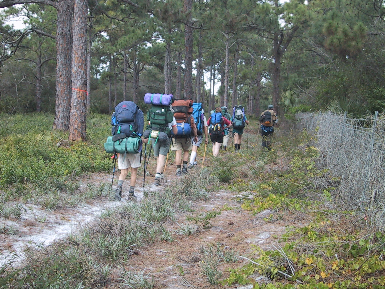 Backpackers on the annual Ocean to Lake Hike, Jonathan Dickinson State Park<br /> photo credit: Paul Guyon / Florida Trail Association