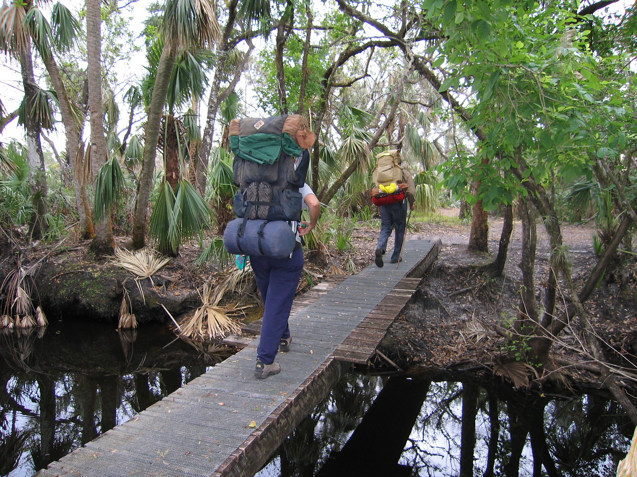 Crossing Kitching Creek, Jonathan Dickinson State Park<br /> photo credit: Robert Coveney / Florida Trail Association