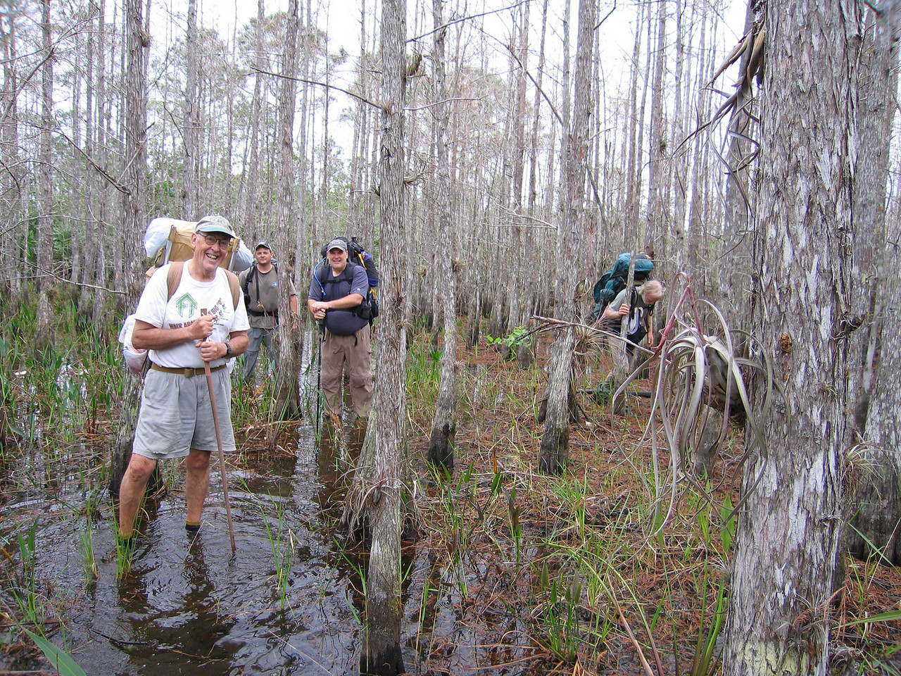 Eastbounders wading along<br /> photo credit: Raphael Clemente / Florida Trail Association
