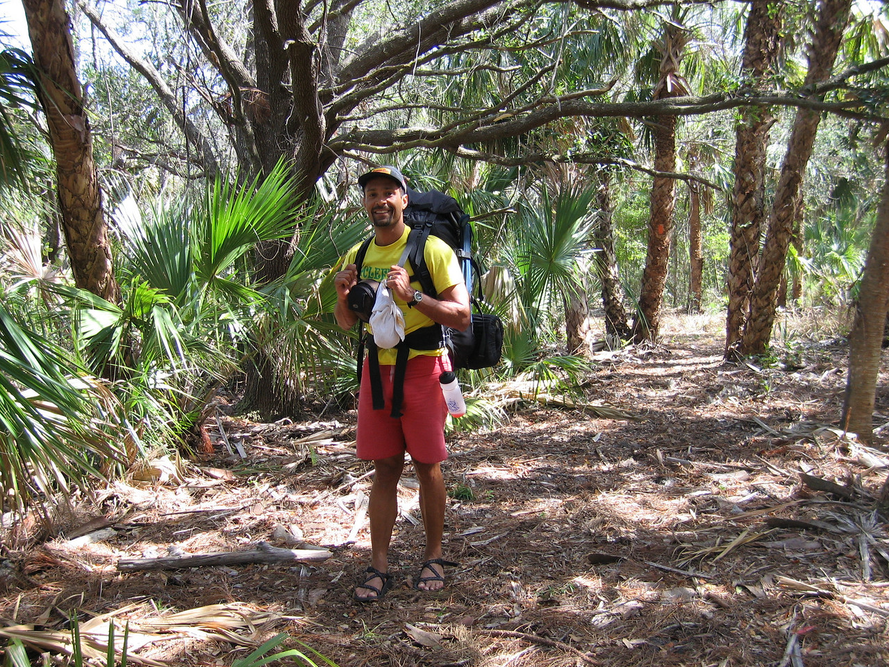 Happy to be in the hammock<br /> photo credit: Raphael Clemente / Florida Trail Association