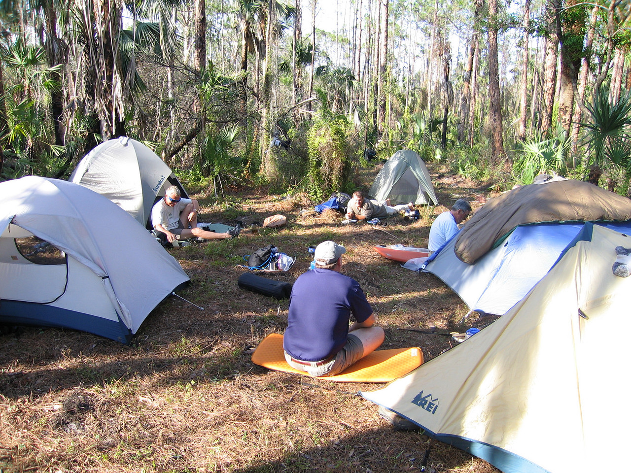 Campsite in the afternoon<br /> photo credit: Raphael Clemente / Florida Trail Association