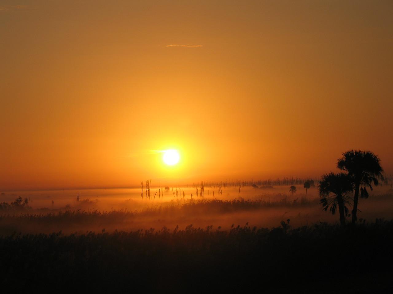 Sunrise at Moore Haven<br /> PHOTO CREDIT: Sandra Friend / Florida Trail Association