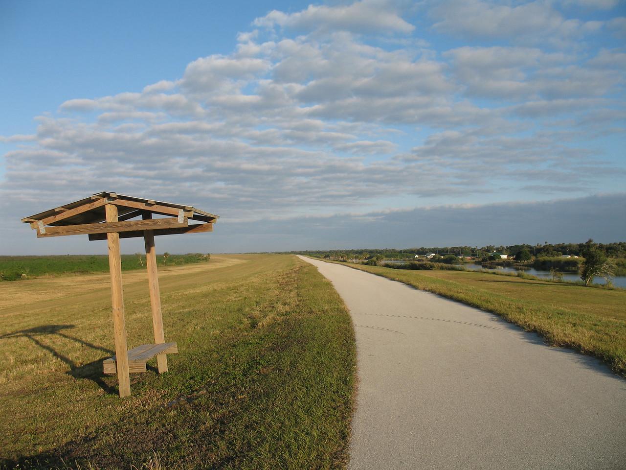 Rest stop near Henry Creek<br /> PHOTO CREDIT: Sandra Friend / Florida Trail Association