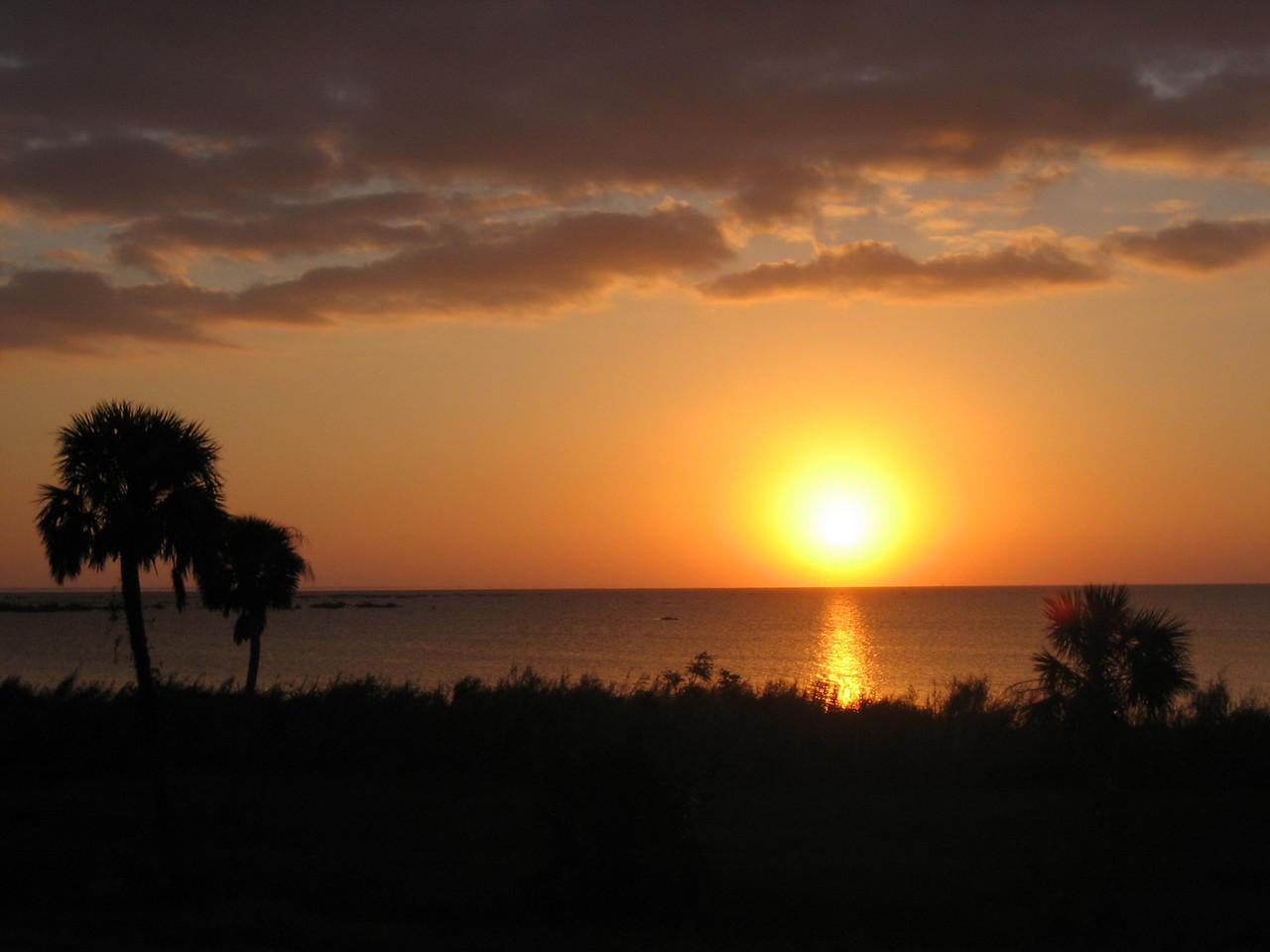 Sunrise over Lake Okeechobee<br /> PHOTO CREDIT: Sandra Friend / Florida Trail Association