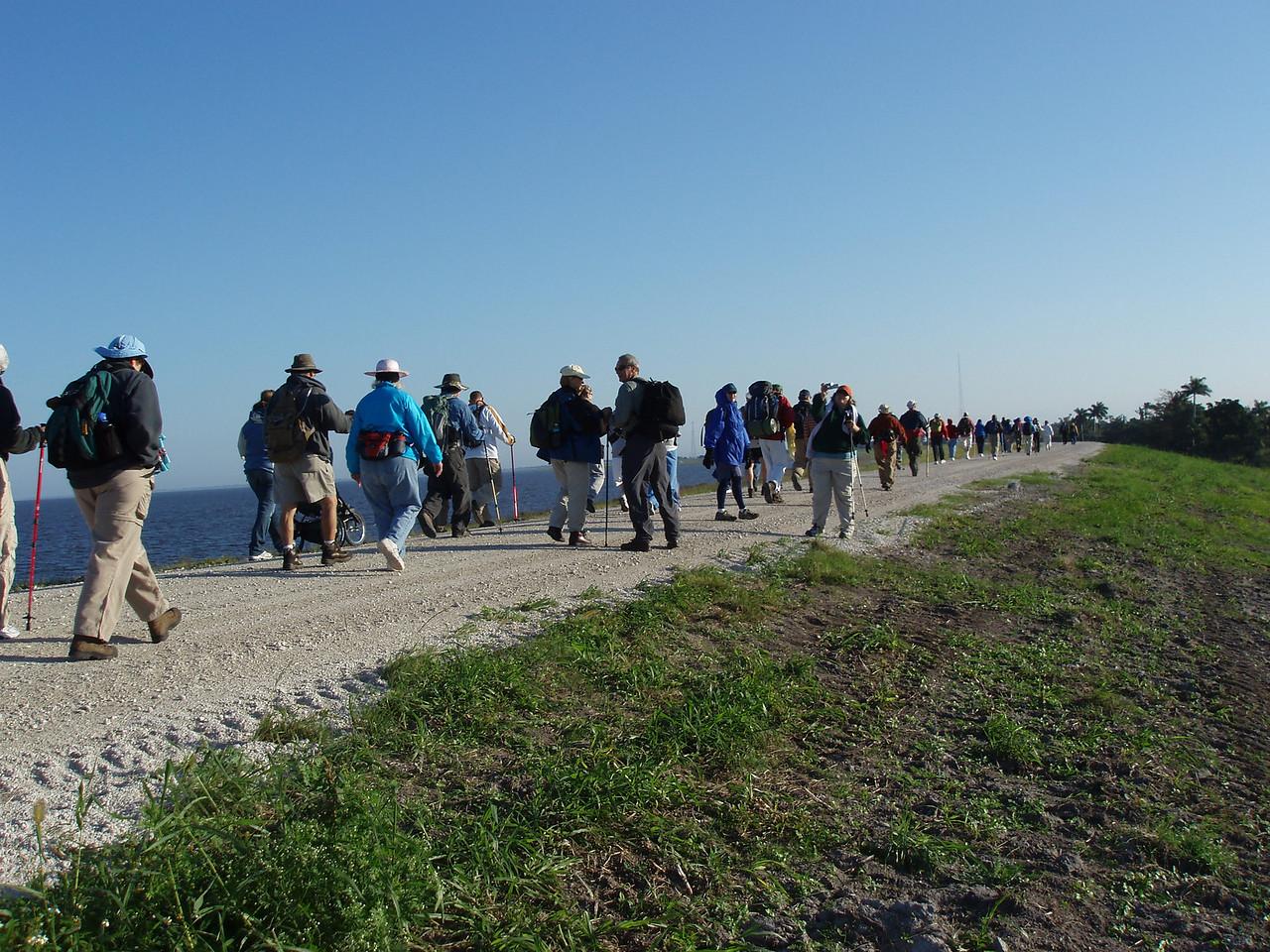 Kickoff of 2007 Big O Hike, Pahokee<br /> PHOTO CREDIT: Robert Coveney / Florida Trail Association