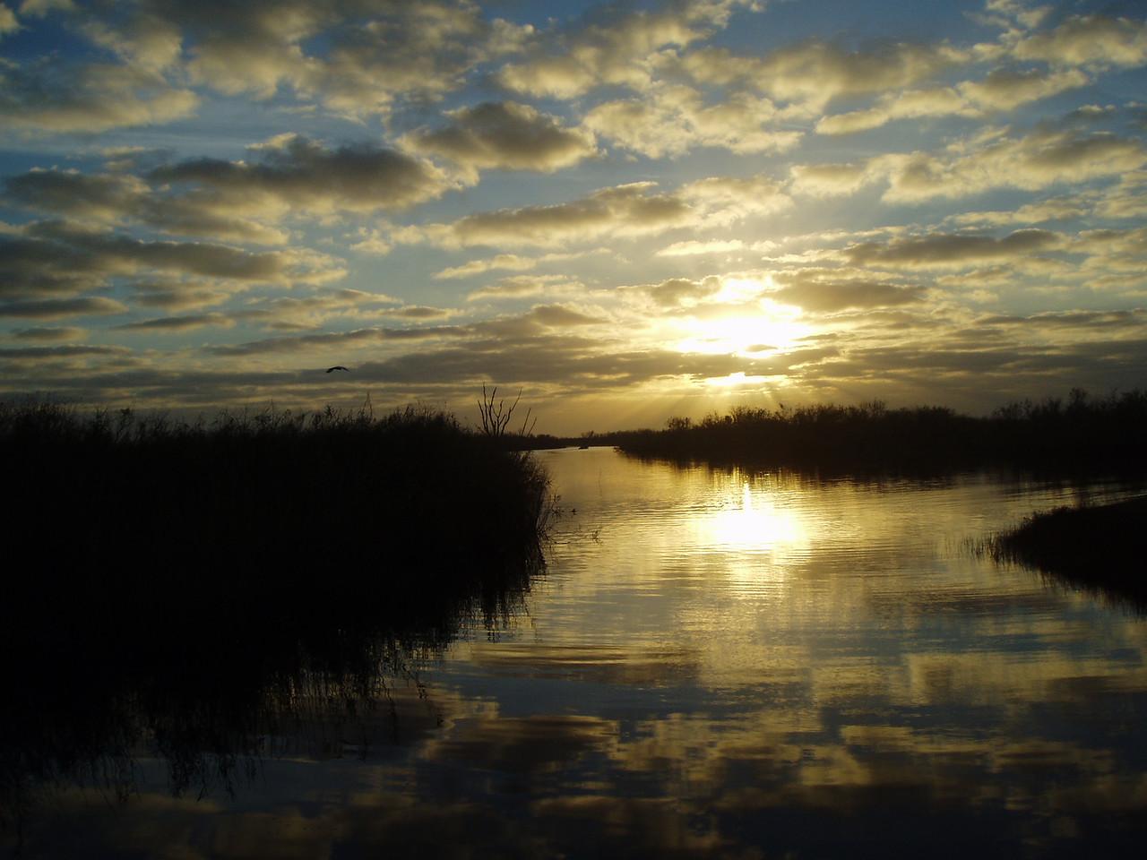 Fisheating Creek at sunrise<br /> PHOTO CREDIT: Robert Coveney / Florida Trail Association