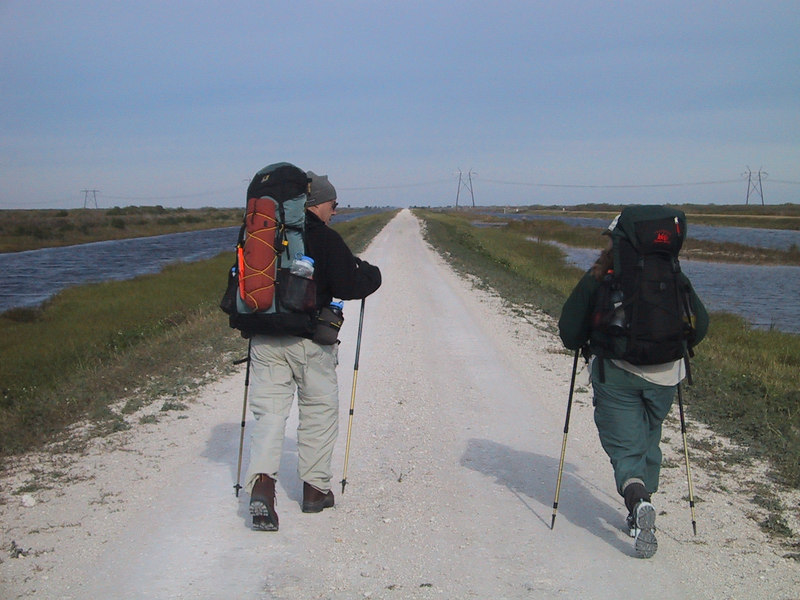 Backpacking the L-3 Canal<br /> location: just north of Big Cypress Seminole Reservation<br /> PHOTO CREDIT: Paul Guyon / Florida Trail Association
