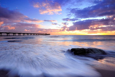 Sunrise at the Dania Beach State Park, Florida.