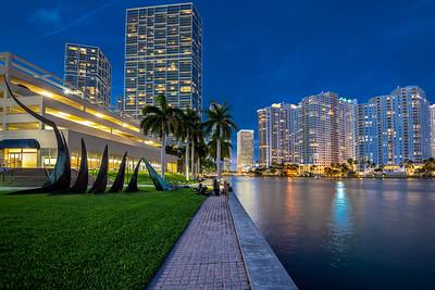 Brickell downtown at night, Miami, Florida