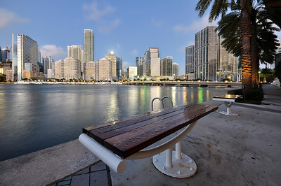Bench with a view, Brickell, Miami