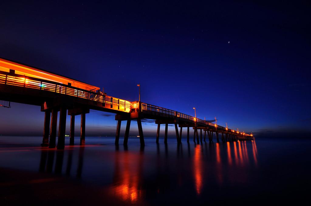 Dania Beach Ocean Park Before Sunrise, Florida.