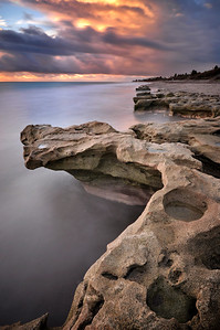 Rock formation of Carlin Park, Jupiter Florida.
