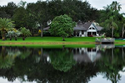 Lake reflection, Miami, FL