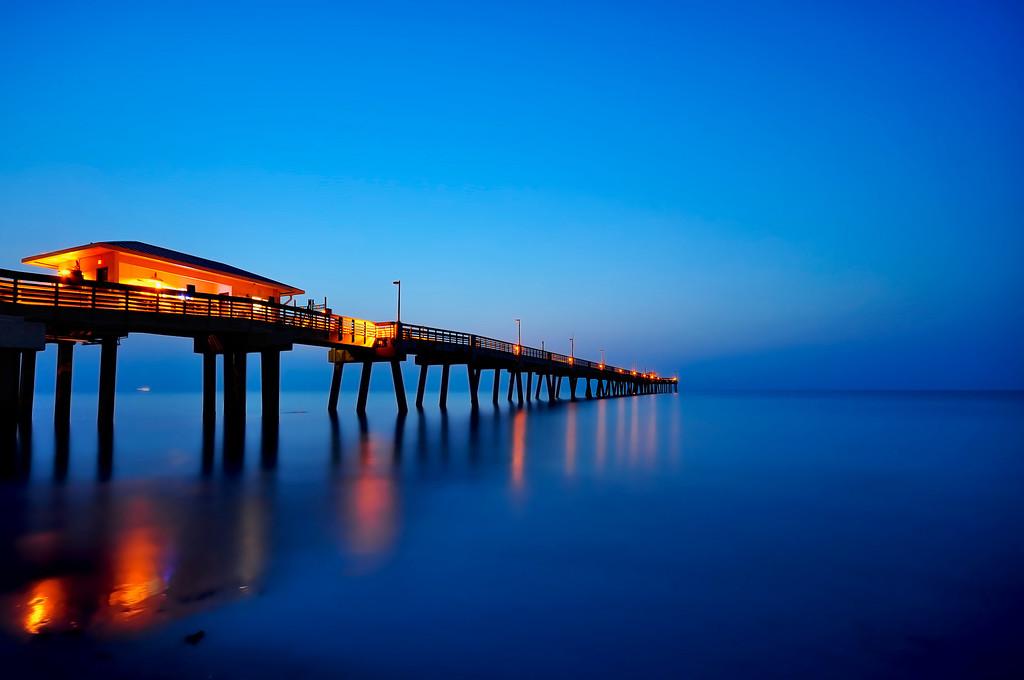 Dania Beach Fishing Pier at Sunrise