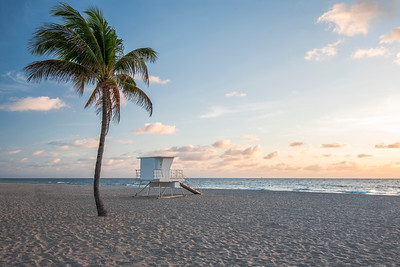 Sunrise at the Fort Lauderdale beach, Florida
