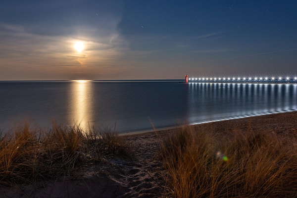 Lunar Radiance Over South Haven