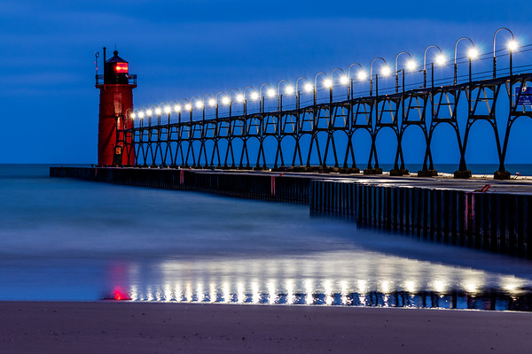 The South Haven Pier Glows