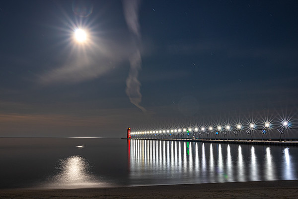 Lunar Radiance Over South Haven III