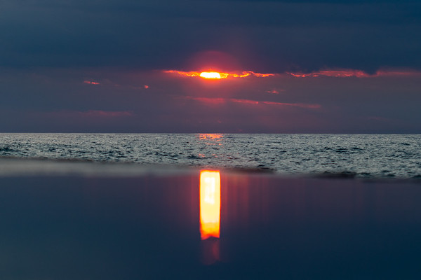 Sunset Reflected on the South Haven North Pier