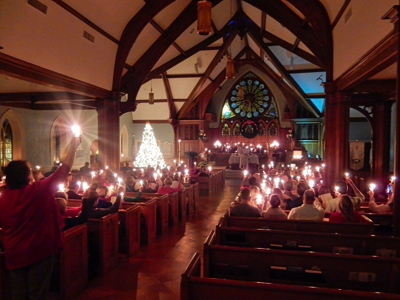 "Always wanted to take a picture of this scene when we sing ""Silent Night"" and we hold candles. When this happens...all the house lights are turned way down and you see only the candles. So moving!"