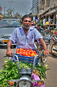 Mobile  Veg Seller