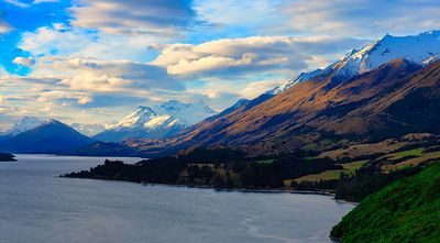 Lake Wakatipu & Mt. Evenslaw