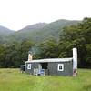 Arriving at Cascade Hut.