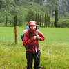A wet tour guide for my dad. The valley was flooding, so we started our wet walk along the road from below Cameron Flat.