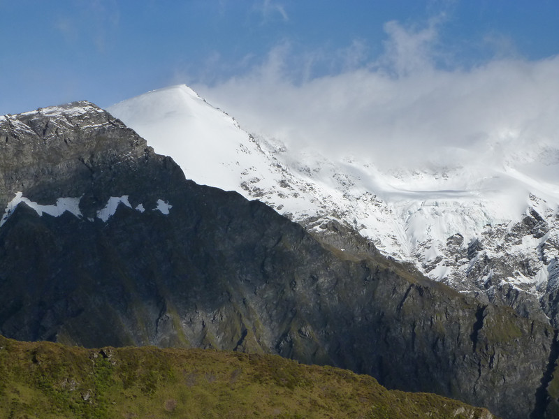 Plunket Dome above Cascade Saddle.