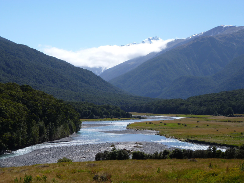 Makarora Valley and Mt Brewster