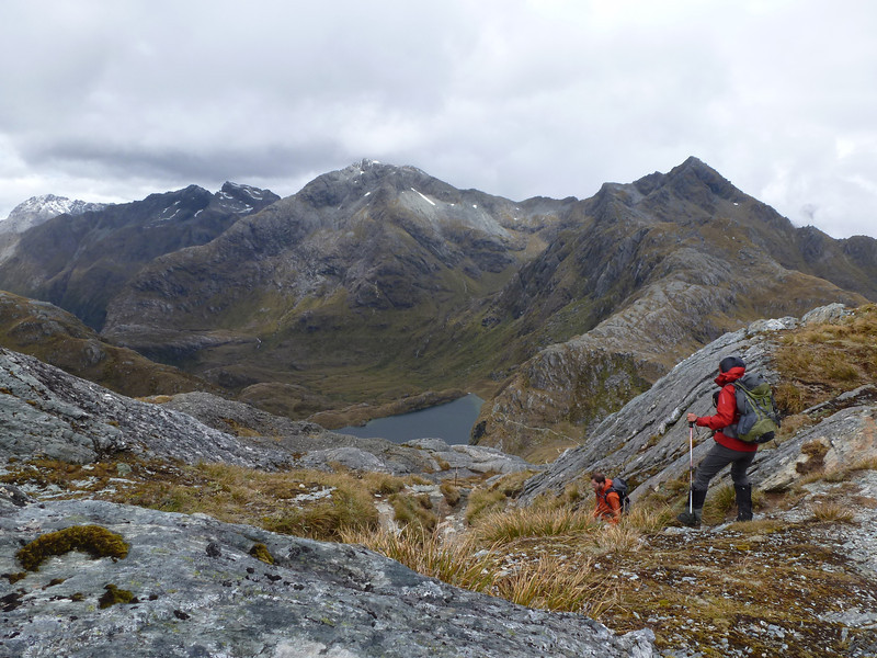 Descending off Conical Hill.