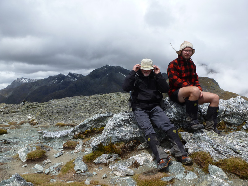 Dad and James on Conical Hill.