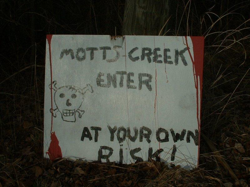 Motts Creek Road entrance 2-13-05