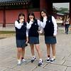 Trading socks at Changdeokgung Palace