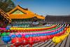 Colorful lanterns at the Gwaneumsa Temple at the foot of Mt. Halla in Ara-dong in Jeju City, Jeju Island, South Korea, Asia.