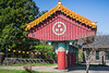 The entrance to the Gwaneumsa Temple at the foot of Mt. Halla in Ara-dong in Jeju City, Jeju Island, South Korea, Asia.