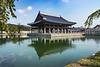 The Royal Banquet Hall at the Gyeongbokgung Royal Palace in Seoul, South Korea, Asia.