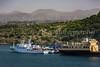 Ships docked at the port of Jeju, Jeju Island, South Korea, Asia.