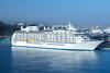 The World cruise ship docked at the port of Jeju, Jeju Island, South Korea, Asia.