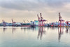The industrial port of Incheon, South Korea, Asia.