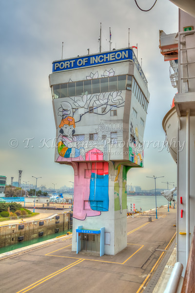 The locks at the entrance to the port of Incheon, South Korea, Asia.