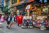 Korean ethnic dress along Insadong-gil street in the Insadong district of Seoul, south Korea, Asia.