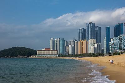 Beach on the Sea of Japan in Busan South Korea