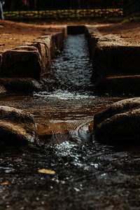 Ancient Water Channel in a South Korean Temple Complex