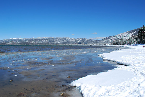 Lake Tahoe Winter Shore