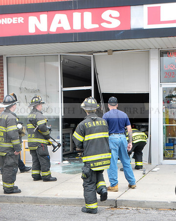 Franklin Square Car into Store May 3rd, 2010