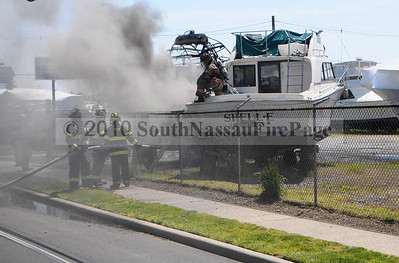 Boat Fire May 13th, 2010 @ 696 South Main Street