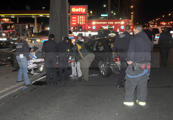 Freeport Four Car MVA with Head on Collision Thursday October 8th, 2009
