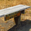 Community built bench along Rogue River Trail
